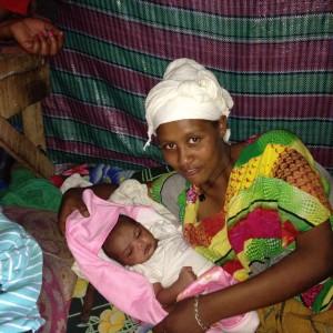 Belanesh and new baby
